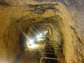 The Greeks build the world's first underground aqueduct, the Tunnel of Eupalinos, on the island of Samos