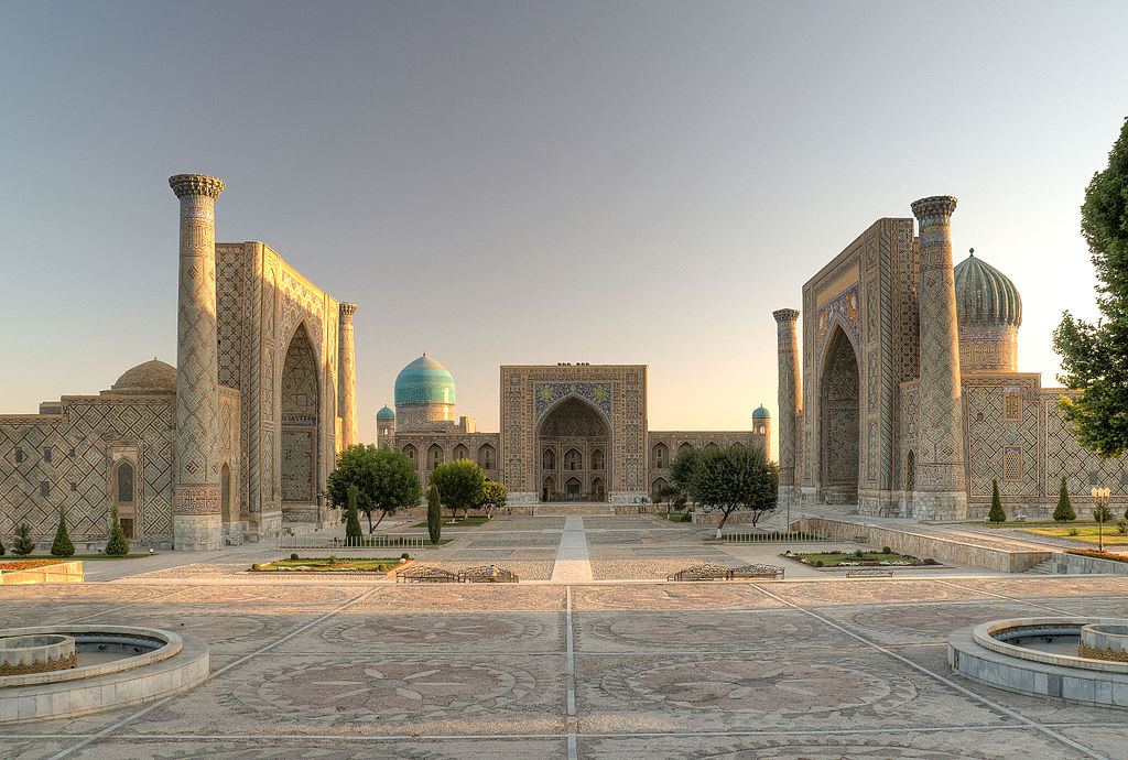 The city of Samarkand is founded in modern-day Uzbekistan