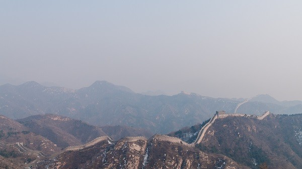 Construction begins on the Great Wall of China