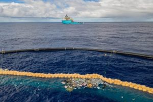 The Ocean Cleanup begins catching trash in the Great Pacific Garbage Patch