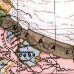 Territory of the Kingdom of Nepal in 1808 map