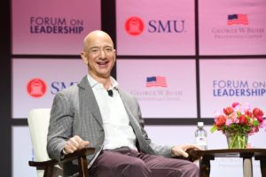 """Closing Conversation with Jeff Bezos, Co-Presented with SMU"" flickr photo by TheBushCenter https://flickr.com/photos/georgewbushcenter/41061224225 shared under a Creative Commons (BY-NC-ND) license"