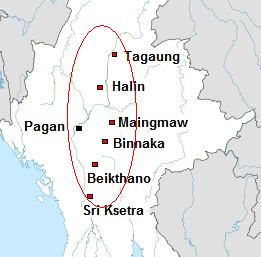 The first city-states in modern-day Myanmar emerge