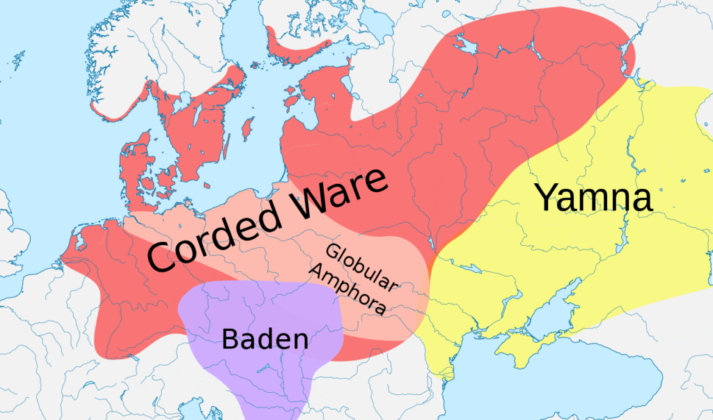 Corded Ware culture map