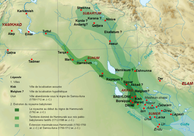 The First Babylonian dynasty comes to power in ancient Mesopotamia