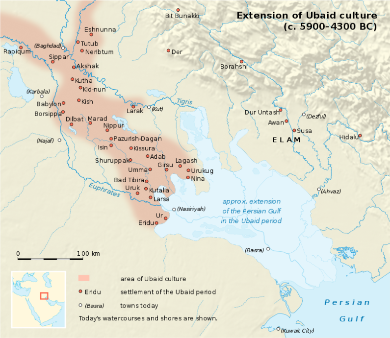The Ubaid culture thrives in ancient Mesopotamia