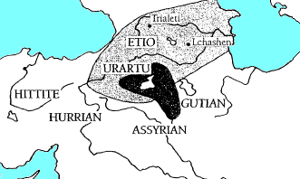 The Kura–Araxes culture thrives in the Caucauses