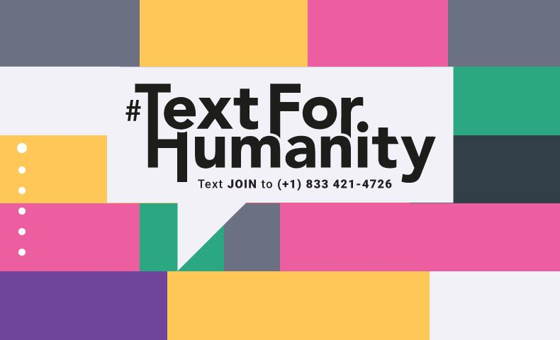 Text for Humanity graphic