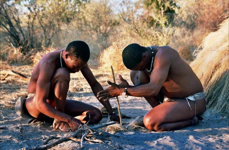 The San people settle in Southern Africa
