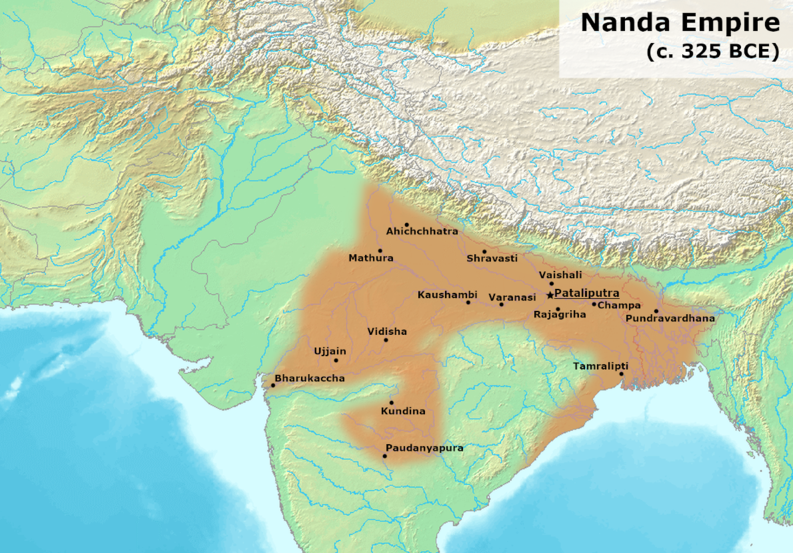 The Nanda Empire comes to power in modern-day India and Bangladesh