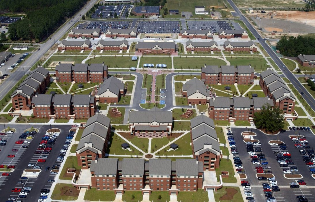 Barracks of the st Brigade nd Airborne Division at Fort Bragg