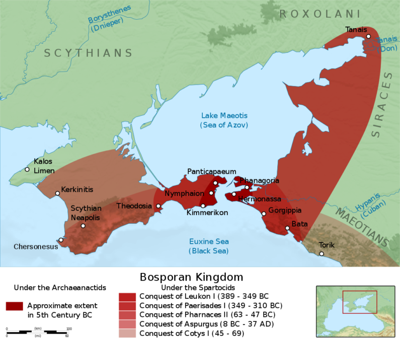 The Bosporan Kingdom thrives in modern-day Russia and Ukraine