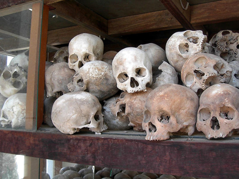 The Khmer Rouge falls from power in Cambodia
