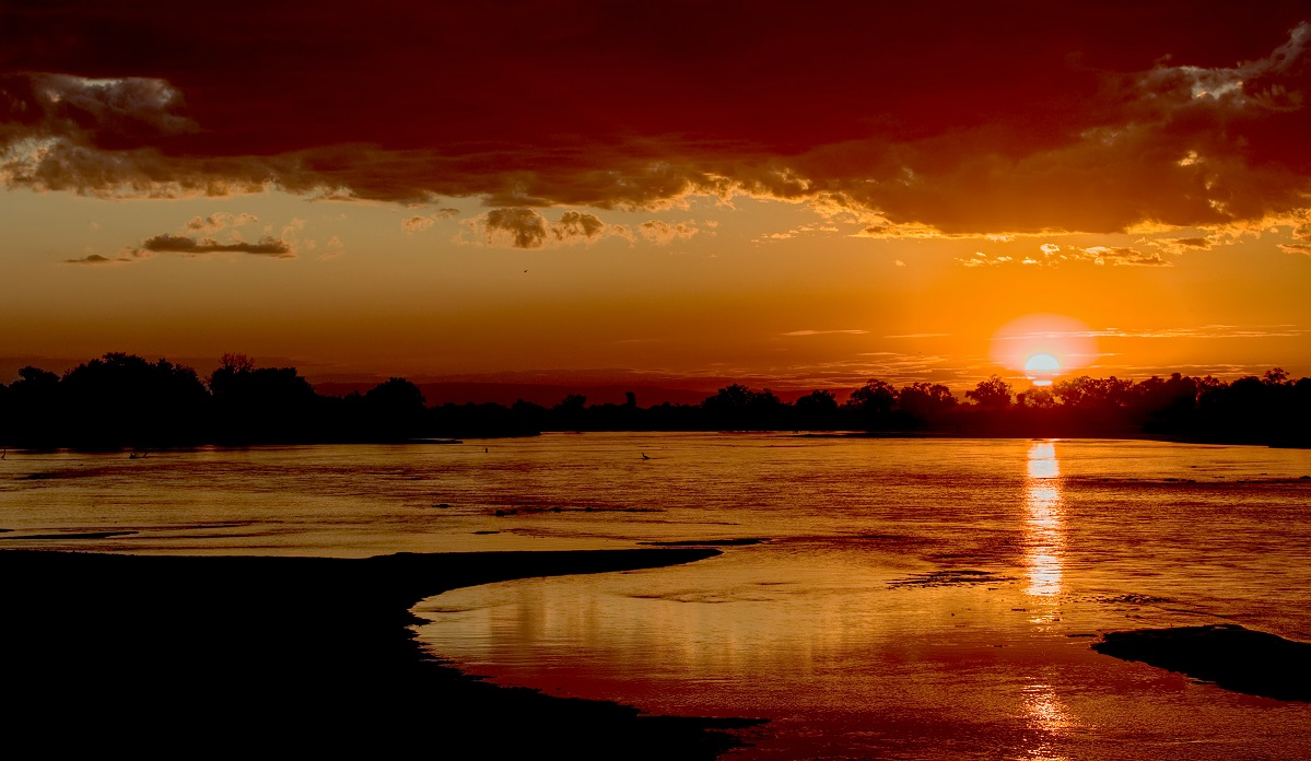 Sunset over the Luangwa River, Zambia
