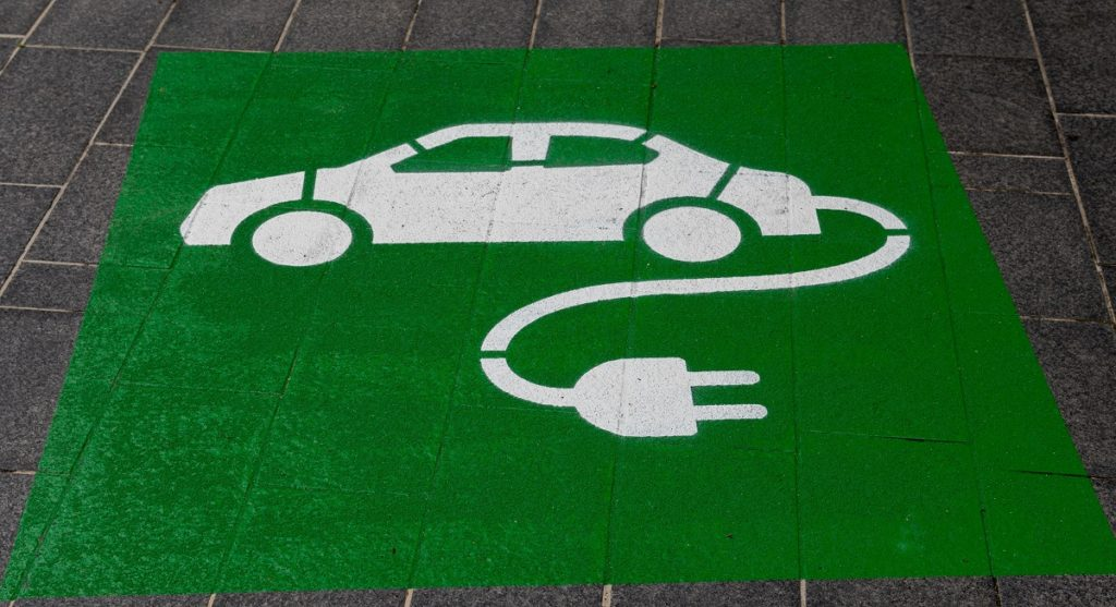 Electric car charging decal