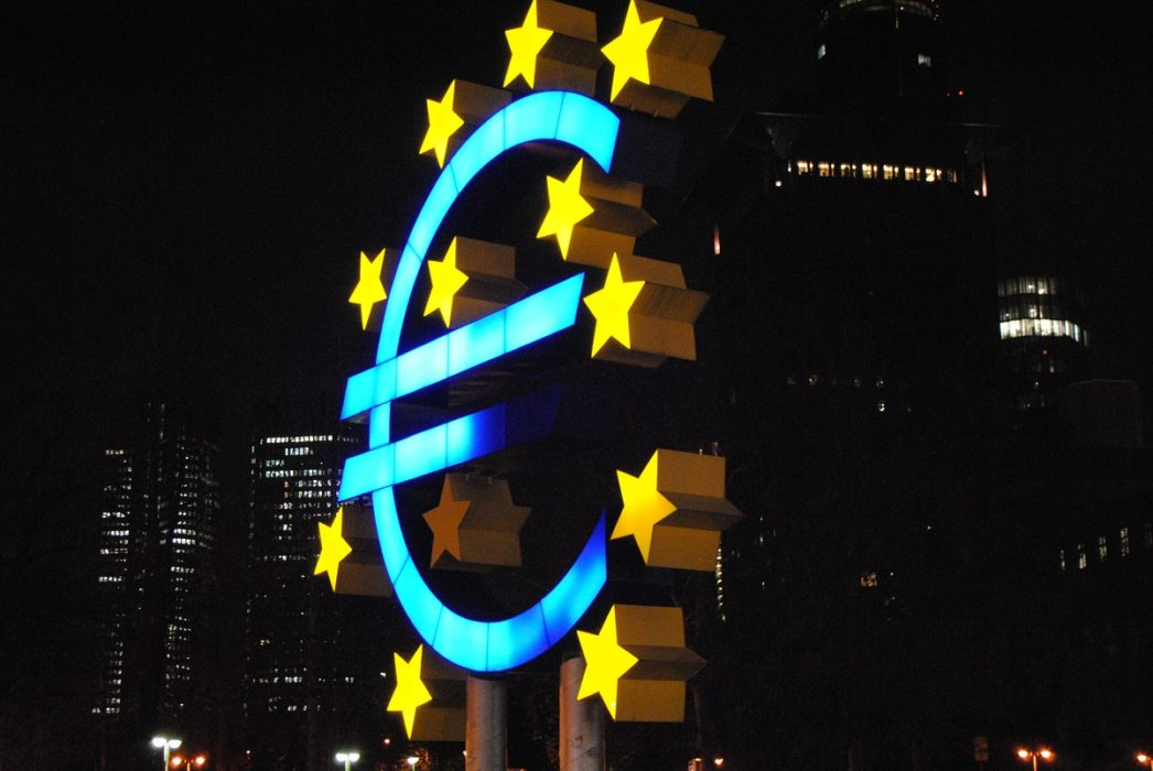 Euro lighted sign