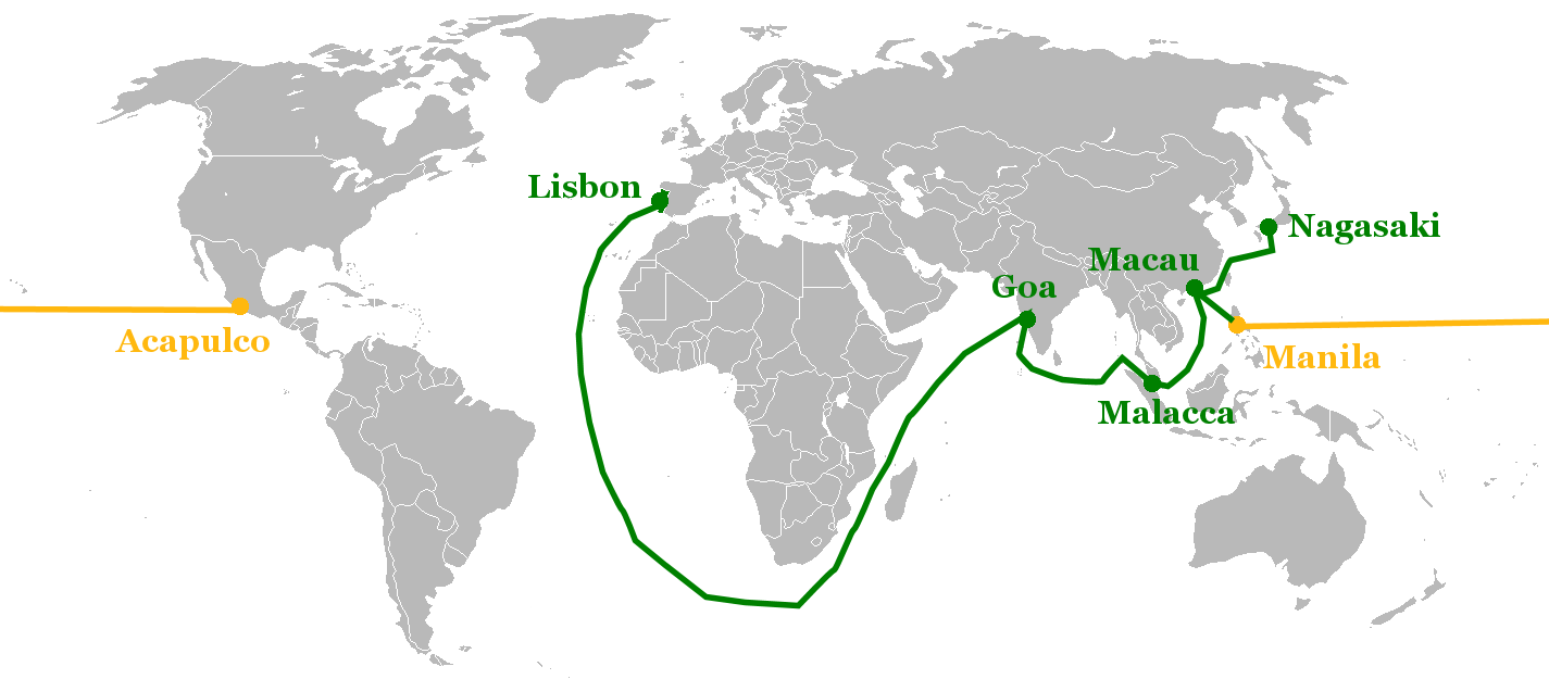 Macau and its position in Portuguese and Spanish global trade routes