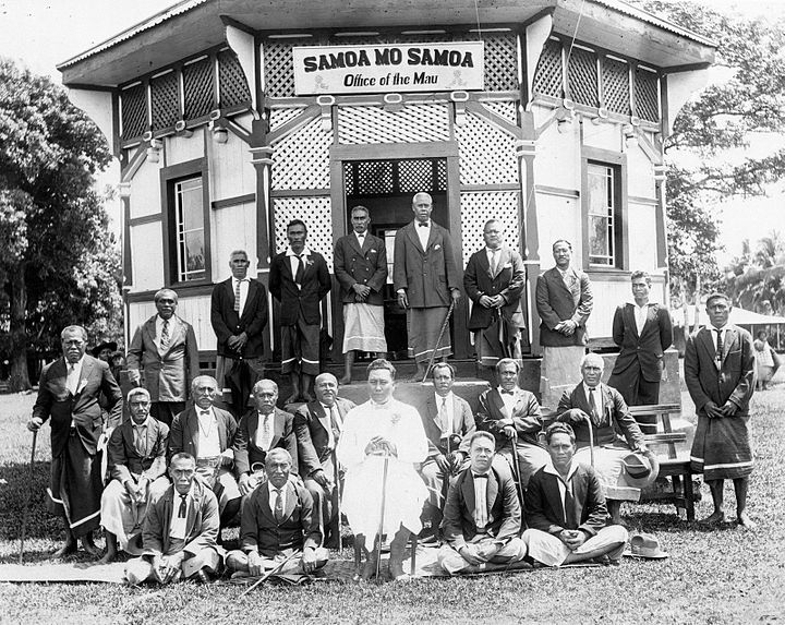 The Mau movement pushes for Samoa's independence
