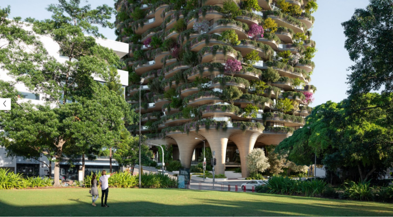 Greenery-covered high-rise will have more trees than a nearby park