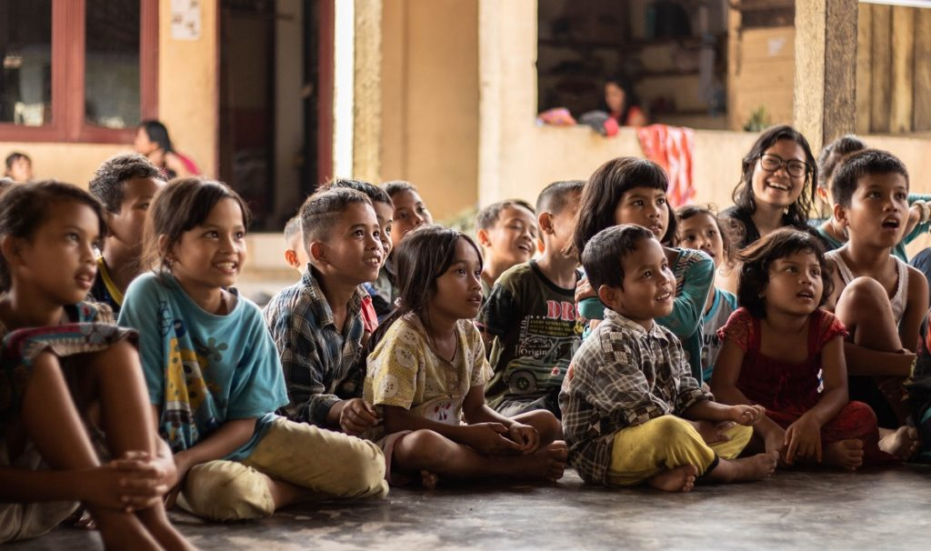 Children sitting down
