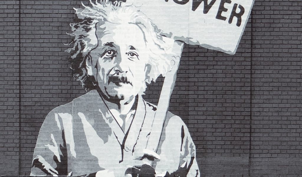 Mural of Einstein