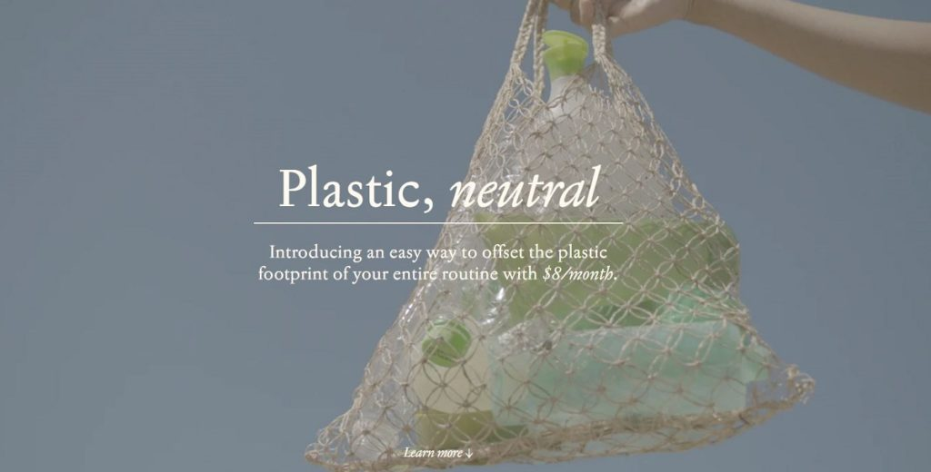 Plastic neutral web page