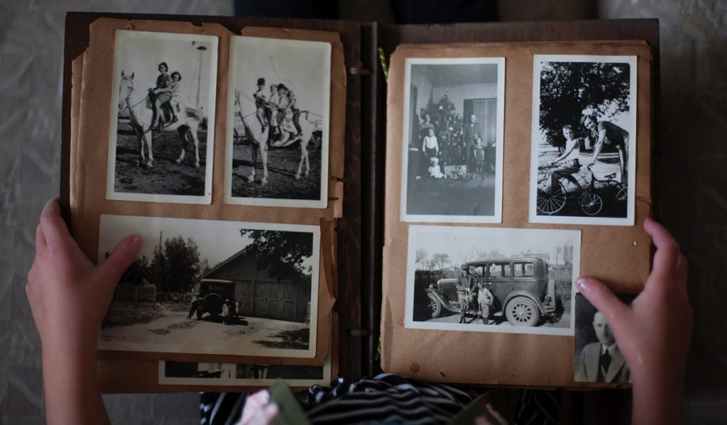 Book with old photos