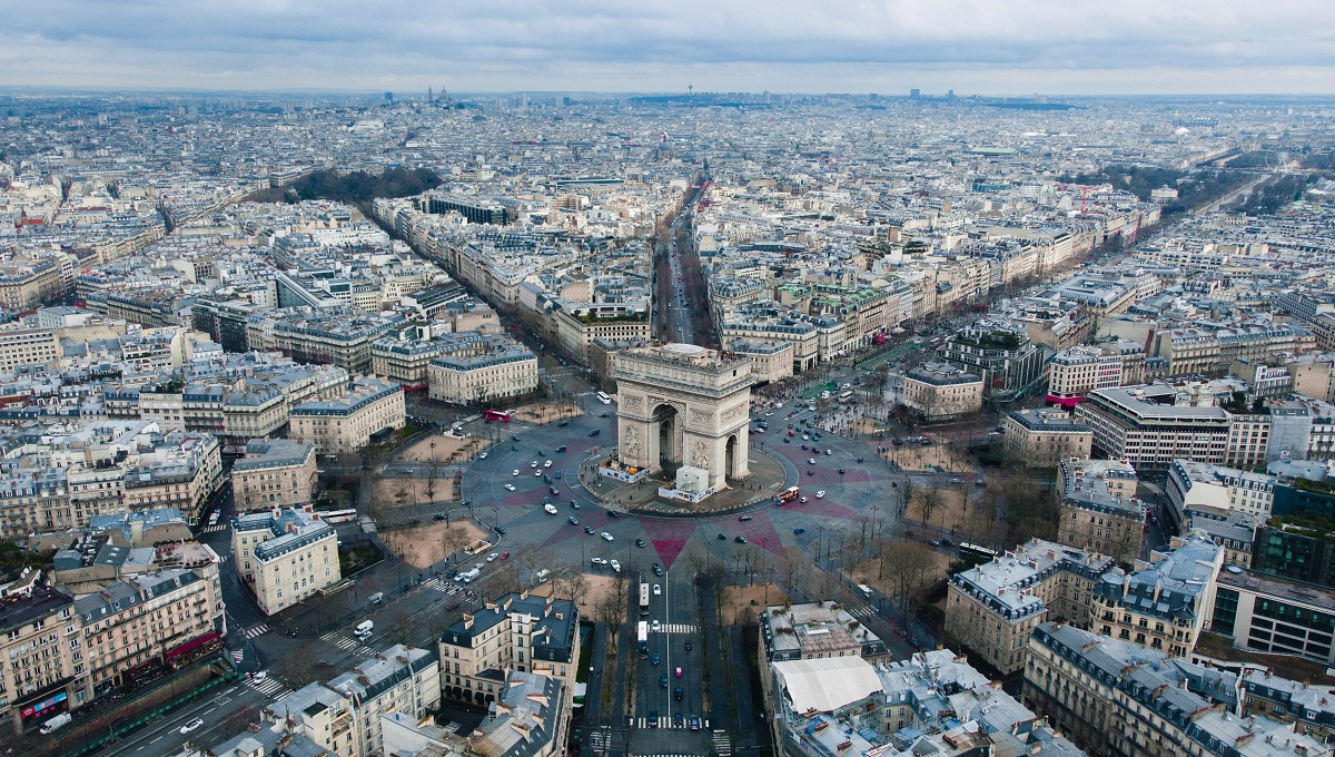 Arc de Triomphe from above