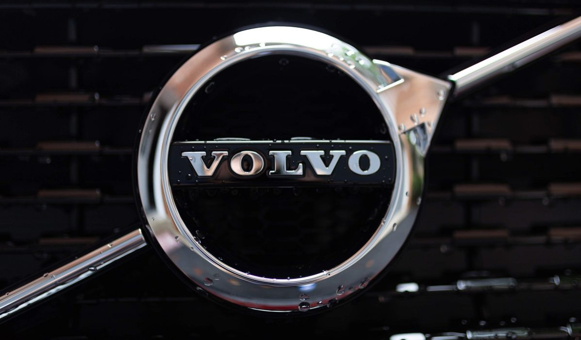 Front of a Volvo car