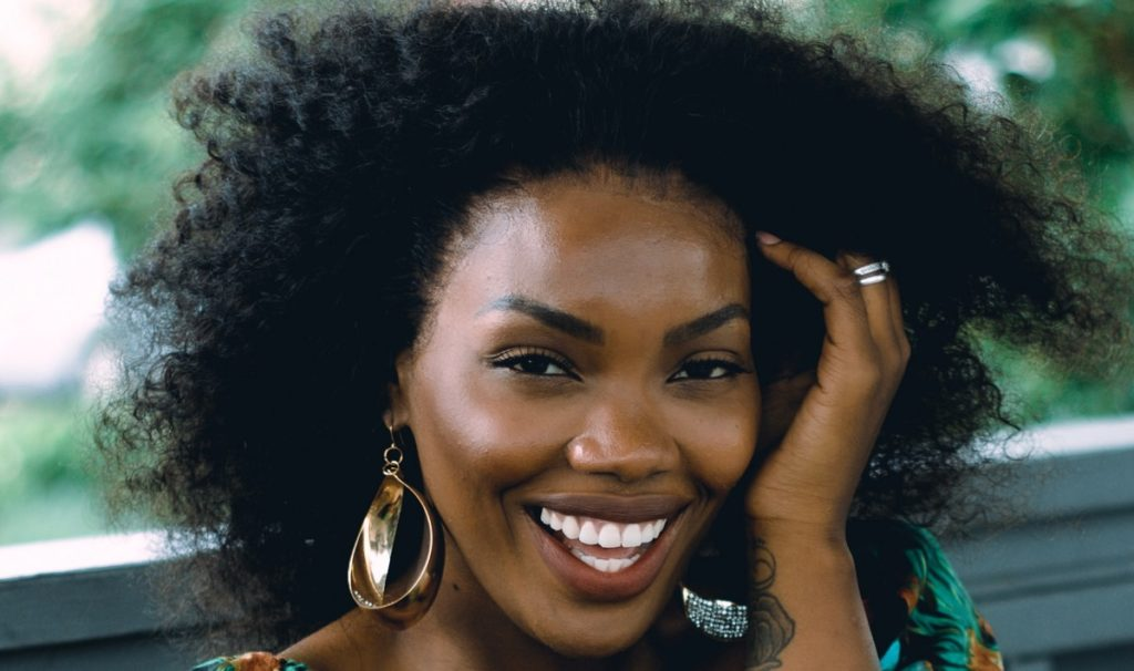 Black woman with natural hair