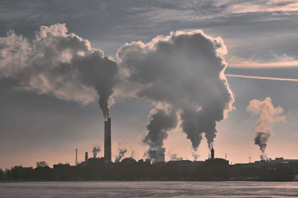 Pollution from industrial area