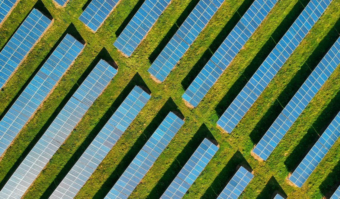 Solar panels from above